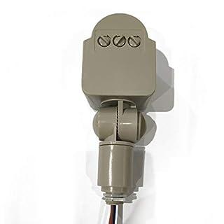 Elviray Bewegungssensor Lichtschalter im Freien AC 220V Automatische Infrarot-PIR-Bewegungssensor-Schalter mit LED-Licht
