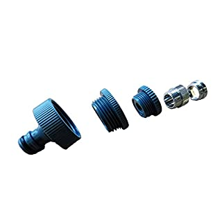 Tap Adaptor 5-WayM 22 x 1 Indoor, M 24x 1Male Thread, 1Inch, 3/4-Inch and 1/2Inch Internal Thread (IG)–Gardena Compatible, for Household Water Connections on Shower, Bathroom Sinks, Kitchen Tap, Garage, etc.