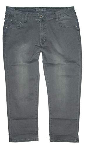 b.s Damen Stretch Capri Dreiviertel Jeans Hose, grau Used S5217, Gr.50 W40 Plus Damen-jeans-hose