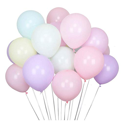 Latex Luftballons 100 Stück 10 Farbe, Bunte Ballons für Weihnachten Party Geburtstag Fasching Valentinstag 25cm ...