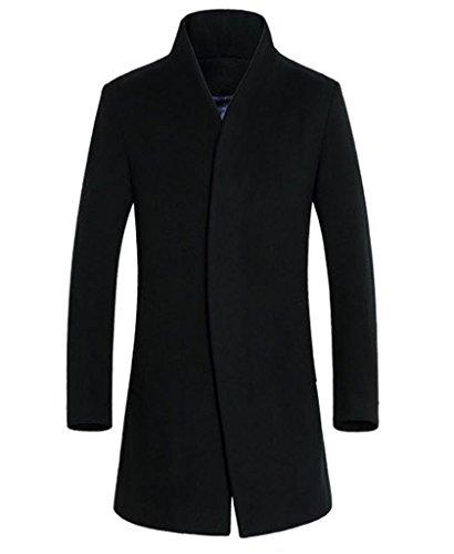 Klorim Herren Mantel Medium Gr. UK M (Etikett XL), schwarz (Wool-blend Classic Blazer)
