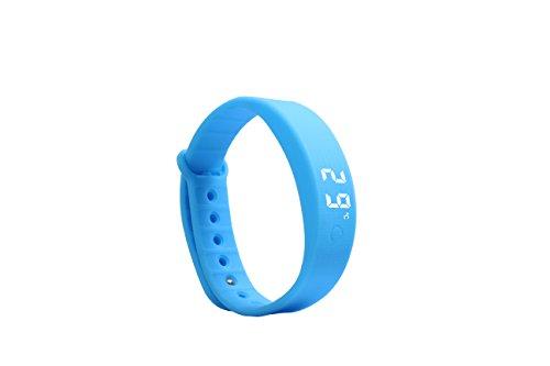 KuWFi W5S Sportuhr Armband Fitness Aktivität Tracker Schrittzähler Kalorienzähler Entfernungsrechner Schlafmonitor Sport Laufen Wandern für Frauen Männer Kinder (Blau)