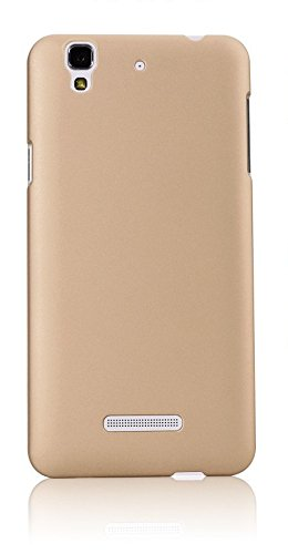 WOW Imagine(TM) Rubberised Matte Hard Case Back Cover For Micromax YU Yureka / Yureka Plus (Champagne Gold)