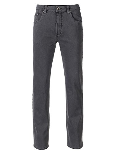 Eagle No. 7 by Adler Mode Herren Jeans Slim Fit 823 - Denimhose, Stoffhose, Damen-Hose, Businesshose Grau 28 (Adler 7)