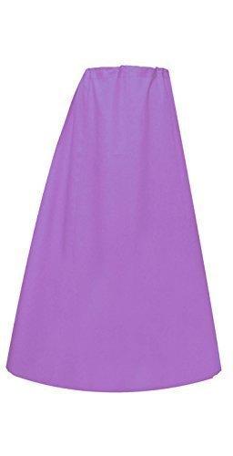 Donna Indian Sari Cotone pronti sottoveste o con cuciture Sottogonna in un'unica taglia 022 Viola