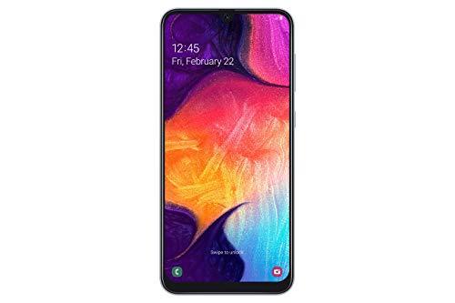 Samsung Galaxy A50 Smartphone (16.3cm (6.4 Zoll) 128GB interner Speicher, 4GB RAM, White) - Deutsche Version
