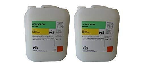 Seife - NEUTRAL parfümfrei - Cremeseife Seifencreme Flüssigseife 10 Liter Kanister (2 x 10 Liter)