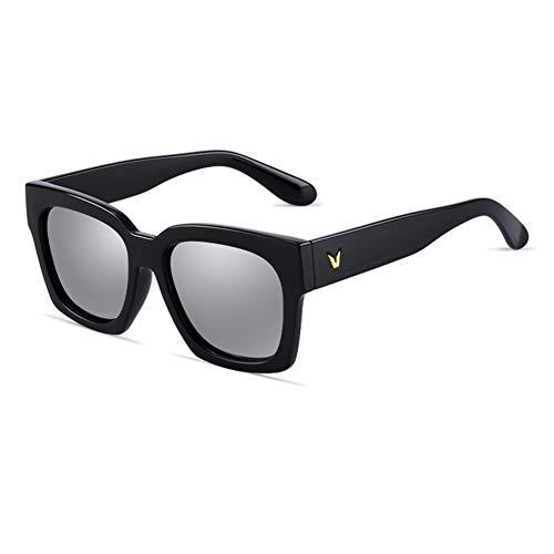 Sonnenbrille Goggle Driving Brille Frau Männer Round Face Square Box Klassisch Retro Polarisiertes Licht Sonnenschutz Anti-UVA Anti-UV 100% (Farbe: Grau)