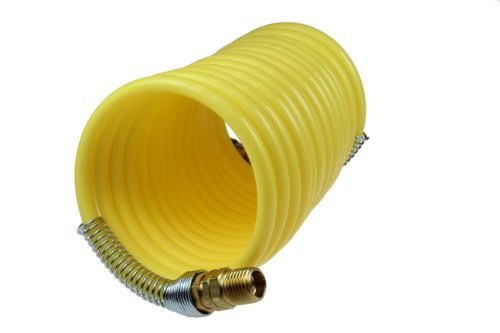 Coilhose Pneumatics N12-50B Coiled Nylon Air Hose, 1/2-Inch ID, 50-Foot Length with (2) 1/2-Inch Swivel Fittings by Coilhose Pneumatics -
