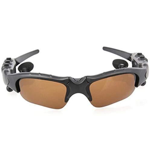 ZRK Drahtlose Bluetooth Glasses-Polariisierte Sonnenbrille Driving Music Bluetooth Stereo Headset-V4.1 Stereo Handsfree Kopfhörer für alle Arten von Smartphones,Brown (Bluetooth-stereo-kopfhörer-boom)