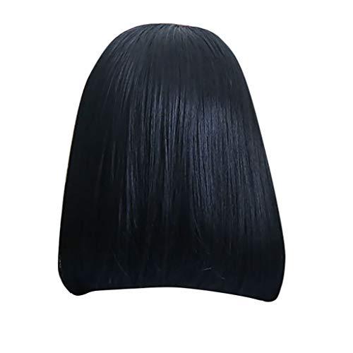 Echthaar Lace Wigs für Frauen,Rifuli® Schwarz Kurze Glattes Haar glatte schwarze Spitzefronthaarperücken brasilianischen indischen Bob Perücke