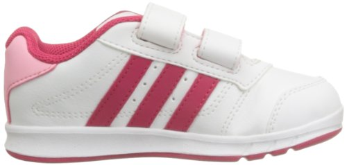 adidas Lk Trainer 5 Cf I, Baskets mode fille Blanc / Framboise