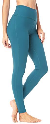 QUEENIEKE Leggings da Allenamento per Pantaloni da Yoga Flessibili da Donna Colore Blu-Verde Taglia S (4/6)