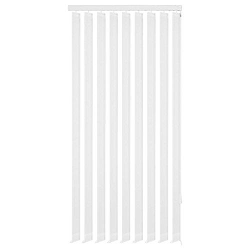Tidyard Persiana Vertical para Ofrece Privacidad,Adecuada para Cualquier Habitación de Hogar Oficina,Persianas de Tela,Carril Principal de Aluminio,Blanco 120x250cm