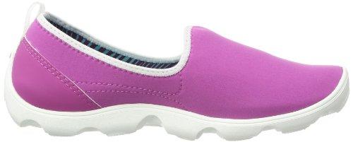 Crocs Duet Giorno Pieno Skimmer 14698-02s-520 Damen Ballerinas Violett (vibrante Viola / Bianco)