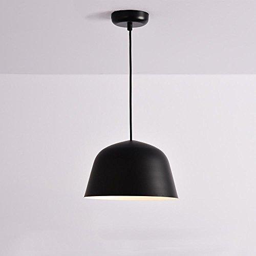 Lampadario es seeksung metal e27 singola testa, luci ristorante moderno, camera minimalisti in vari colori 1 pz, black