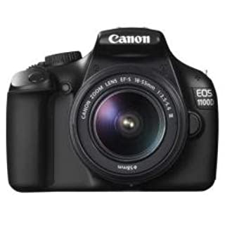 "Canon EOS 1100D - Cámara Réflex Digital + EF-S 18-55 Is I 12,2Mpx 3X Óptico Lcd 2,7"" Bateria Estabilizador Optico Negro (B005E0G01O) 
