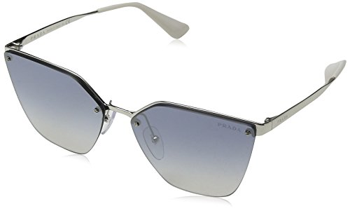Prada Damen 0PR68TS 1BC5R0 63 Sonnenbrille, Silber Light Blue Silver