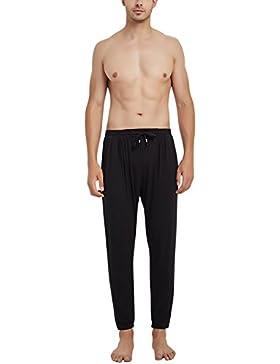 Dolamen Hombre Pantalones de Pijama Modal Algodón, 2018 Pantalones Boxeador Largo Casual Ropa de Dormir Cintura...