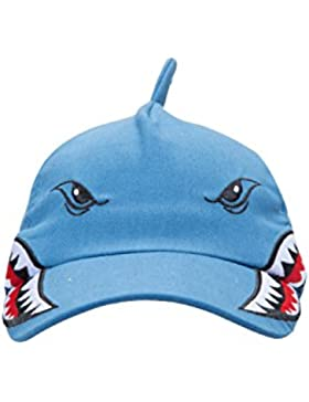Mountain Warehouse Shark El tiburón Embroma el Sombrero del béisbol - Casquillo del Verano de los niños del diseño...