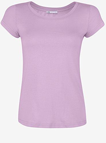 oodji Ultra Damen T-Shirt Basic Aus Baumwolle Violett (8000N)
