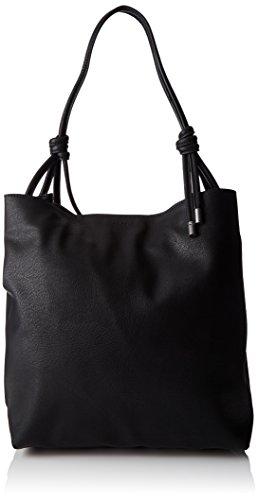ESPRIT Damen 087ea1o017 Tote, Schwarz (Black), 14x35x31 cm