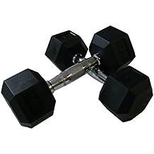 Bollinger Mancuernas Hexagonales 5Kg, Unisex Adulto, Negro, 10 Kg