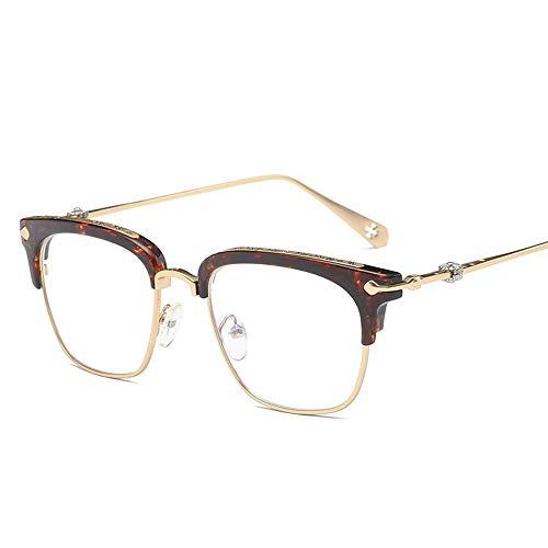 QYY Blaulicht-Schutzbrille, Leichter UV-Schutz Strahlungsresistente Flache Schutzbrille, transparente Gläser gegen Ermüdung der Augen für Computer/Mobilgeräte/Spiele,A