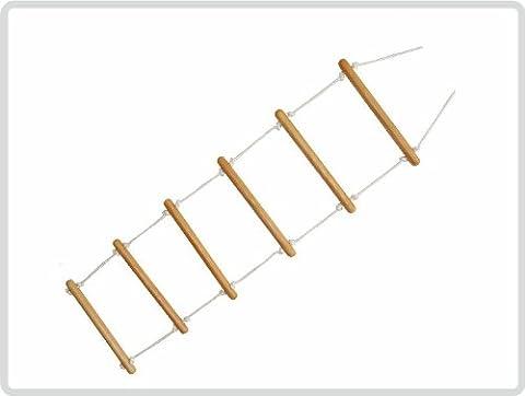Bettleiter 160 cm lang - Strickleiter Aufrichtehilfe 6 geformte Rundhölzer