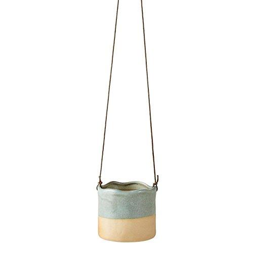 Villa Collection Wave Design Haus Aufhängen Plant Flower Pot in grün & blau aqua blue Aqua Flower Pot