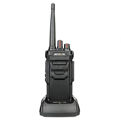 Retevis RT648 Talkie Walkie IP67 Imperméable sans Licence PMR446 VOX Scan Squelch Monitor(Noir)