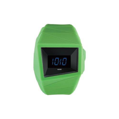Alessi AL22002 - Reloj digital unisex, correa de plástico color verde