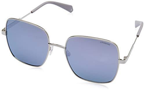 Polaroid Sonnenbrillen (PLD-6060-S B6EMF) silber - grau polarisierte mit verspiegelt effekt