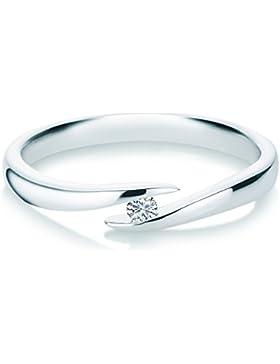 Verlobungsring Twist Silber 0,05 Karat TW/SI