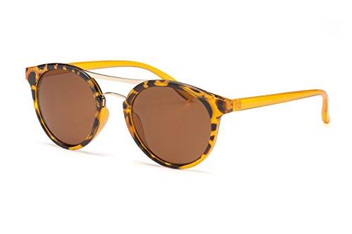 Filtral Runde Sonnenbrille/Moderne Twin-Träger Sonnenbrille mit Leopardenmuster für Damen F3001618