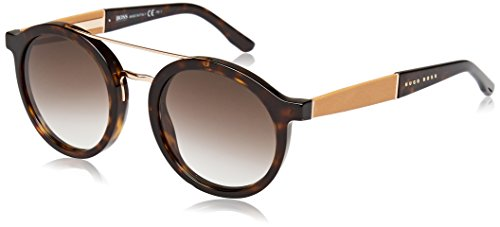 BOSS Hugo Damen 0853/S JS 086 Sonnenbrille, Braun (Dark Havana/Brown Sf), 50