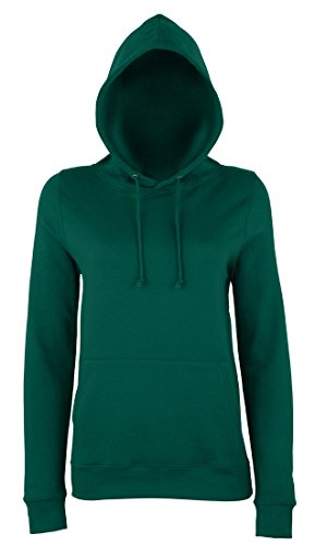 JH001F Girlie College Hoodie Mädchen Kapuzen Sweatshirt Damen Bottle Green