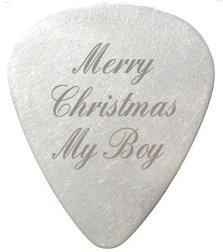 Merry Christmas My Boy Gitarre Pick/Plektrum-Individuelle Gravur, inklusive Geschenkverpackung