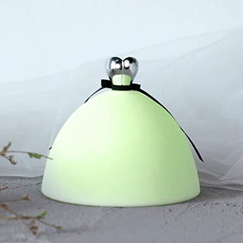 DLH Nachtlicht, Bunte Silikon Lampe, USB Lade Prinzessin Kleid Pat Licht, Geeignet Für Schlafzimmer Geburtstagsgeschenk -