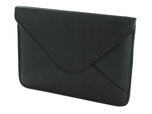 Damen Laptop-brief (COOL BANANAS Envelope Tasche | Hülle in klassischer Brief-Form | passgenau hergestellt aus hochwertigem Kunstleder | für Microsoft Surface Pro 4 | Farbe Schwarz)