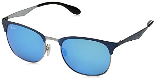 Ray-Ban Unisex Sonnenbrille Mod. 3538 Top Blue On Gunmetal/Greenmirrorblue One size (Herstellergröße: 53)