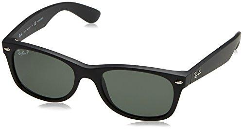 Ray-Ban Unisex-Erwachsene Sonnenbrille New Wayfarer, Schwarz (Black), 52