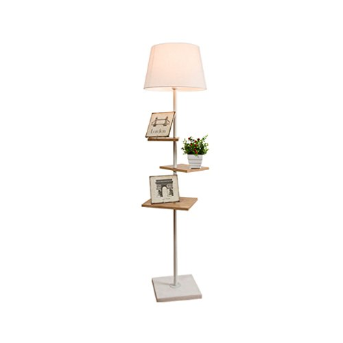 LEGELY Lampe de sol en bois massif de style japonais, simple lampe de chevet de la lampe de chevet de salon, lampe de table de stockage créatif table basse, E27 blanc 60.24in * 15.75in