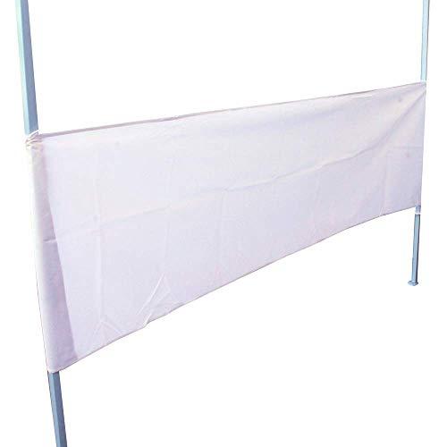 PrimeMatik - Lona Lateral Media para Carpa Plegable de 250cm Blanca
