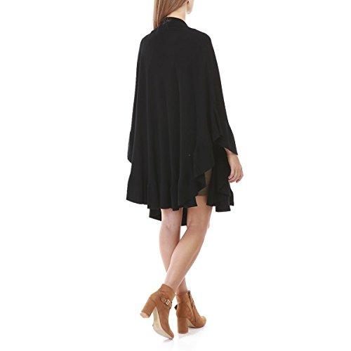 La Modeuse - Poncho femme long Noir