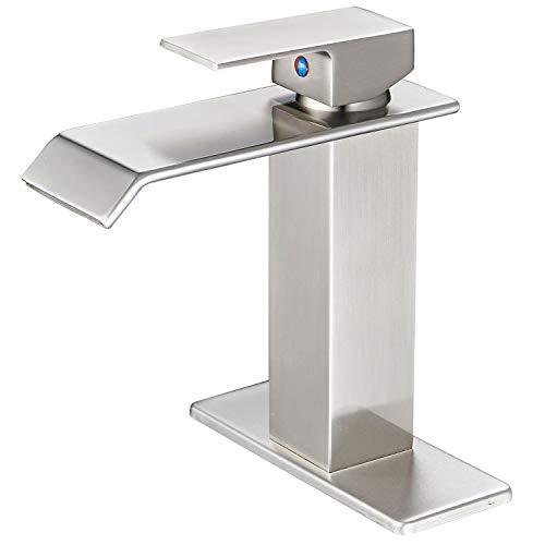 aquafaucet Wasserfall Auslauf Single Griff Waschbecken Wasserhahn Waschtischarmatur, Orb Öl eingerieben Bronze -