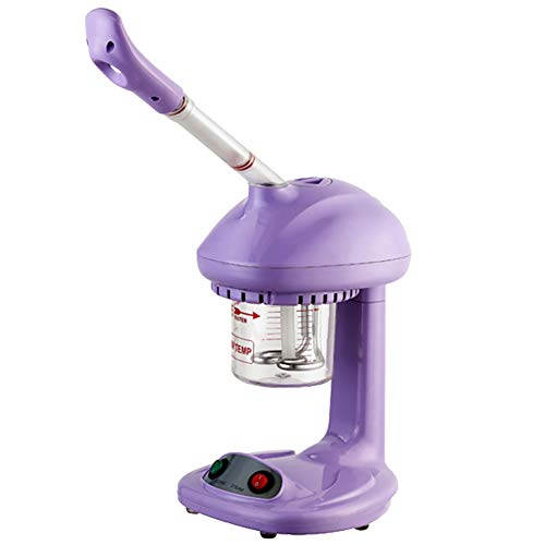 MOSTEAMER 450W Heiß Nebel Gesicht Dampfer tragbar Ozon & Aromatherapie Luftbefeuchter Salon Spa Haut Pflege Maschine zum Zuhause und Professionel Gesichtssauna Feuchtigkeits Reinigung,Purple