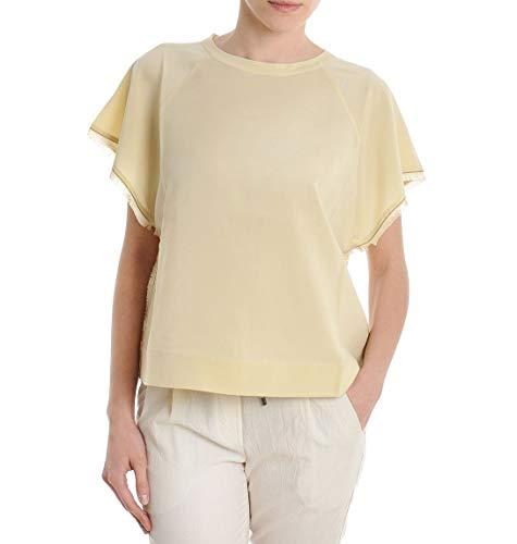 Brunello Cucinelli T-Shirt Donna M0s28b8000co598 Seta Giallo