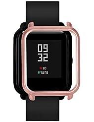 Protector para xiaomi huami amazfit bip Youth,☀️Modaworld Colorida Carcasa de PC Funda Proteger Carcasa para Xiaomi Huami Amazfit Bip Youth Watch Protector para Reloj (Oro Rosa)