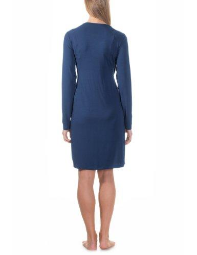Bellybutton Damen Umstands Nachthemd MILLI 1/1 Arm Blau (deep blue 42100)